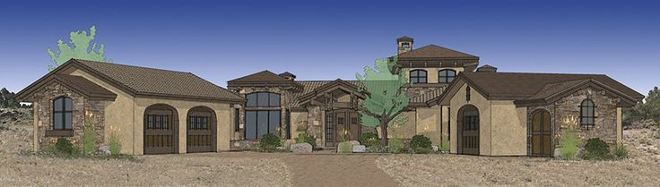 Mediterranean House Plan with 3579 Square Feet and 3 Bedrooms from Dream Home Source | House Plan Code DHSW077114