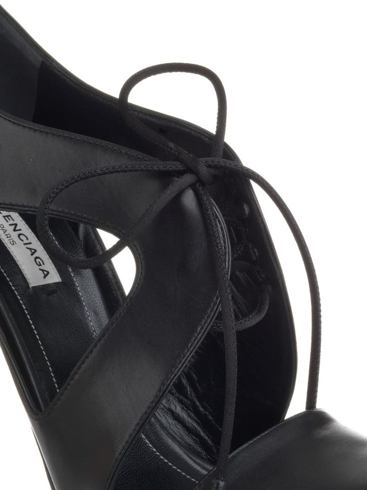 Balenciaga Lace-up leather pumps