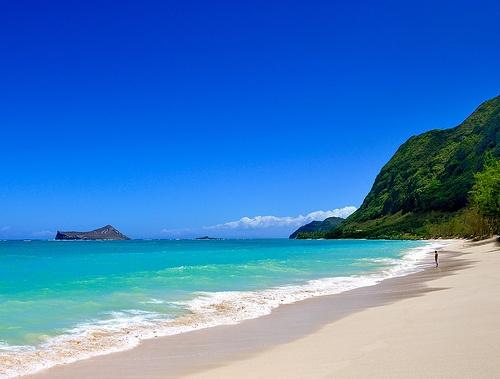 Beach Wedding Ceremony Oahu: Waimanalo Beach, Hawaii