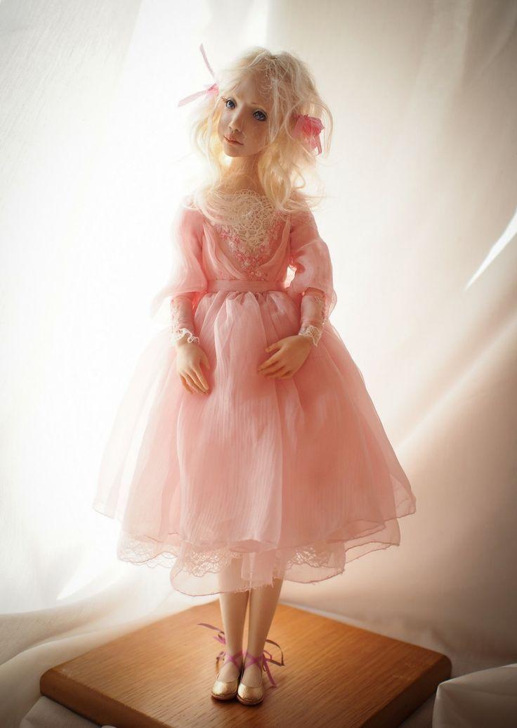 """An Angel"". Handmade OOAK doll. #romantic #wonders #doll #OOAK #home #decor #decoration #art #artdoll #silk #polymer #clay #homemade #handmade #greece #oneofakind #artwork #κουκλα #τεχνη #χειροποίητο #πηλος #πολυμερικος #διακοσμηση #σπιτι #κουκλα #τεχνη #πολιτισμός #έργοτέχνης #кукла"