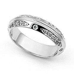 14k White Gold Pave set Diamond Eternity Wedding Band Ring (G-H/VS, 2/5 ct.)