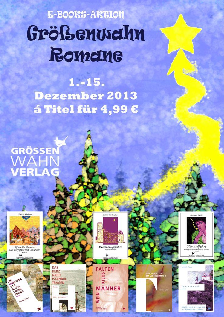 Vom 1.-15. Dezember gibt es unsere Romane als E-Books für nur 4,99 euro.  Das richtige zum Schmökern über Weihnachten und zwischen den Jahren. Jetzt schon eindecken.