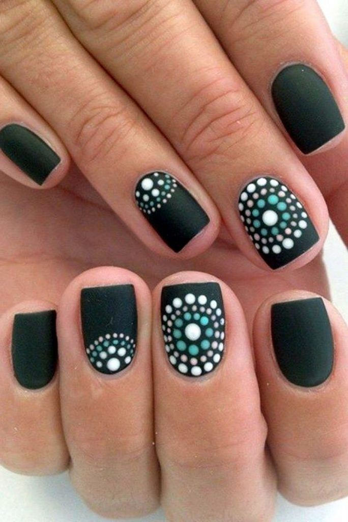 43 Must Try Polka Dot Nail Art Designs