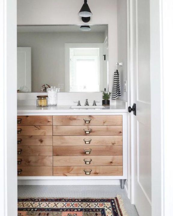 BECKI OWENS- Bathroom Trend Warm Wood Vanities - ostermann trends küchen