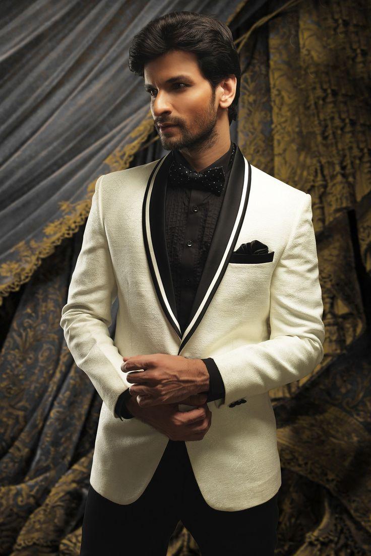 Buy Tuxedo SuitsOff White with Shawl Lapel Online