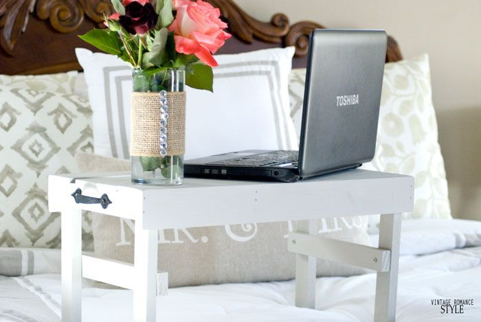 Easy DIY Laptop stand for bed