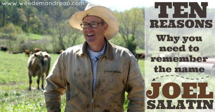 10 Reasons why you need to remember the name Joel Salatin
