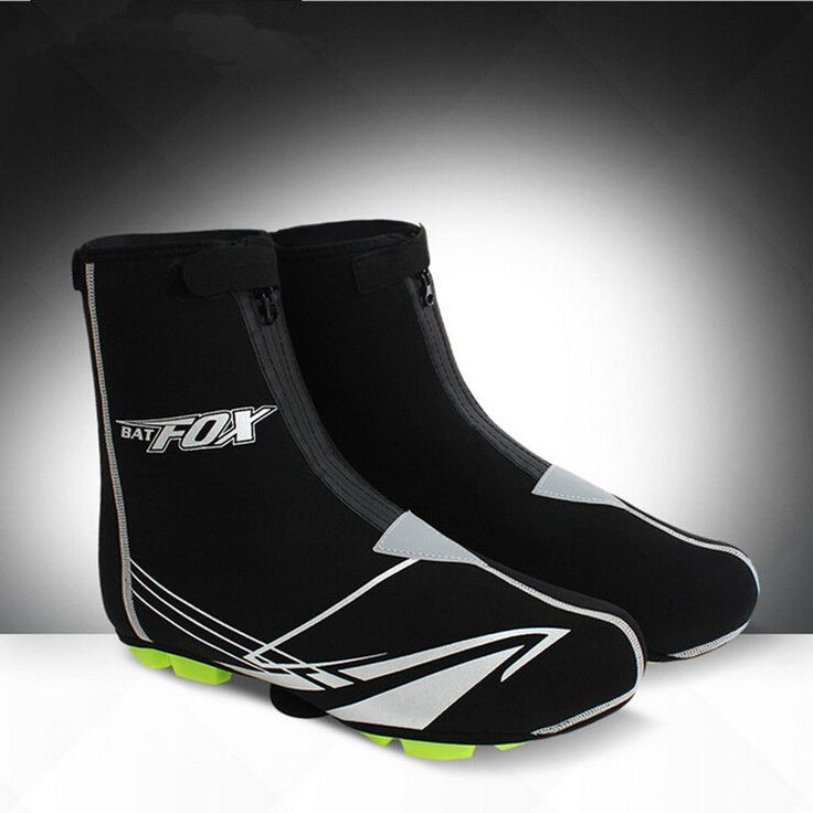 Winter Bike Overshoe Fleece Thermal Reflective Waterproof Cycling Shoe Covers  #Unbranded