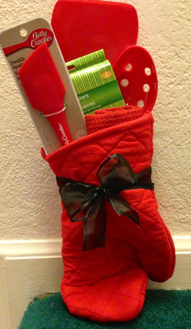 Easy Gift Idea Oven Mitten Wooden Spoon Spatula