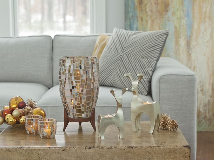 Vienna Collection from PartyLite brings Waves of mosaic glass which create a luxurious, metallic shimmer....... Tis the season for silver and gold !!!