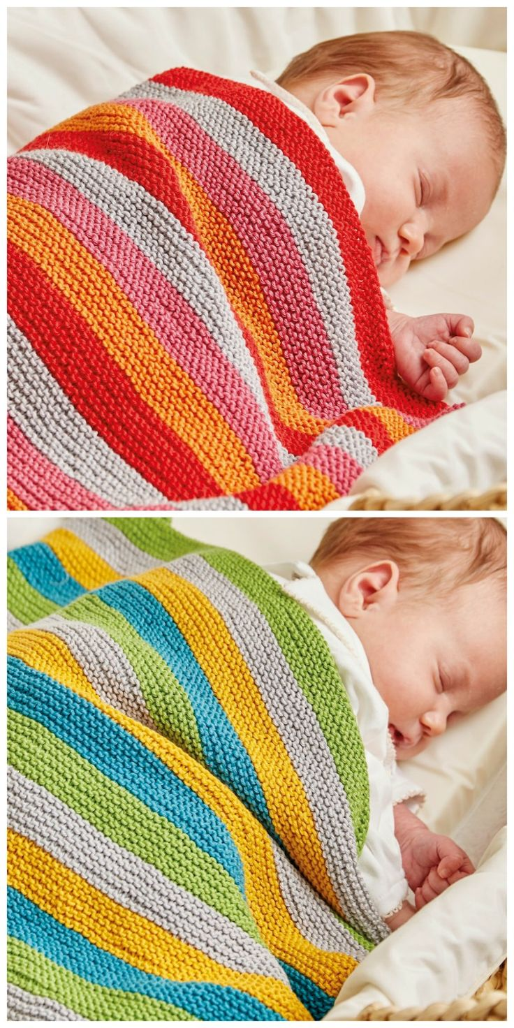 Free knitting pattern: Ollie and Polly Blankets by Jem Weston with book review of The Knitted Nursery Collection: 14 Cuddly Toys and Colourful Accessories for Babies
