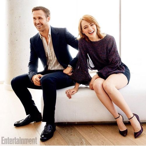 Emma Stone and Ryan Gosling at the Entertainment Weekly's TIFF Portrait Studio
