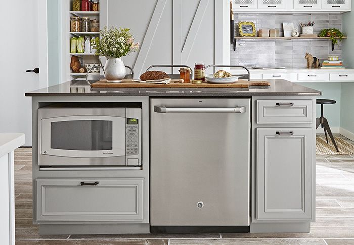 Kitchen Island With Built In Microwave And Dishwasher Kitchen