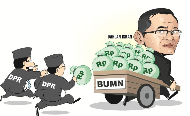 Karikatur - Dahlan Iskan - Menteri BUMN - Indonesia