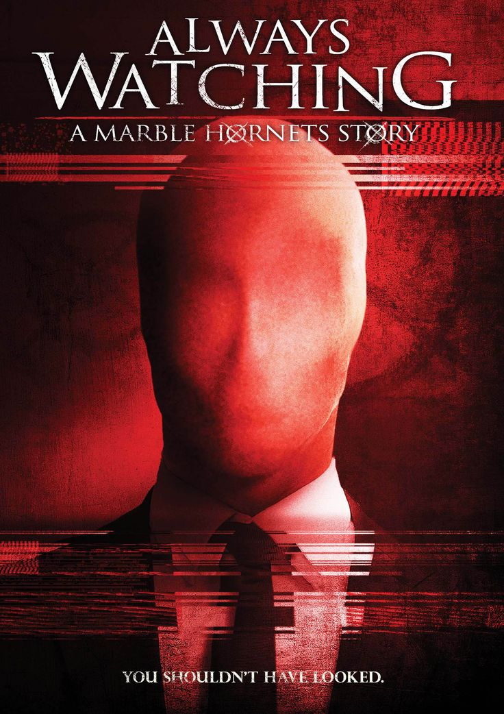 """#1197. Always Watching: A Marble Hornets Story, June, 2017.A small town news team, Milo the cameraman, Sara the reporter and Charlie the producer, discovers a box of video tapes in a foreclosed house where a faceless figure dressed in a dark suit, haunts and torments a family... slowly driving them insane. Soon after, they realize that the """"Operator"""" has begun to stalk them as well."""