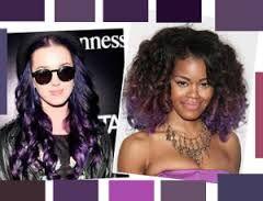 Resultado de imagen para cabello negro con reflejos violeta