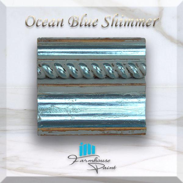 Ocean Blue Shimmer Sample