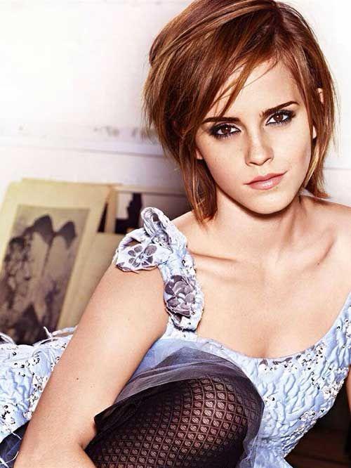 Emma Watson Long Pixie Hairstyle