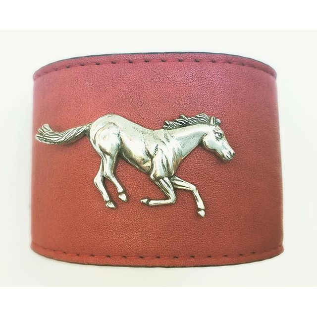 Red Leather Wrist Cuff for $27