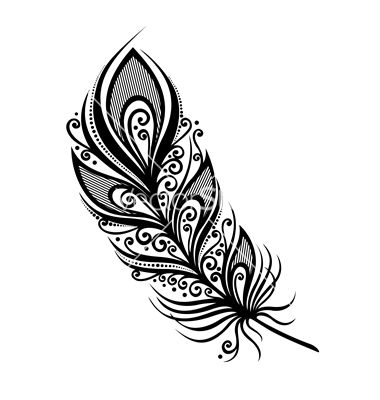 Peerless decorative feather vector by Krivoruchko on VectorStock®