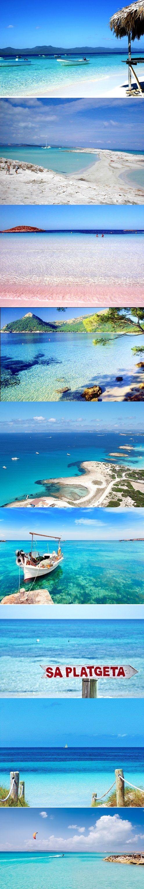 Formentera Beaches Woowwwwwww IMPRESIONATE esta serie de imágenes de la splayas de Formenetera. http://www.bodaenibiza.es