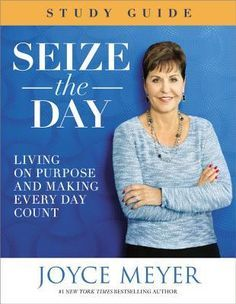 """Seize the Day Study Guide by Joyce Meyers is designed to work in conjunction with Joyce's latest book, Seize the Day to help readers learn how to """"seize their own days"""" and learn how to live a life of few regrets by enjoying each day on its own."""