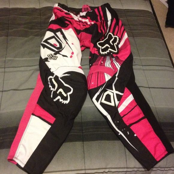 Fox dirt bike pants ATV 100% authentic fox dirt bike pants, mint condition, hip protecting pads, leg heat protector leather. Size 5/6 Fox Other