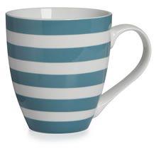 Teal Stripe porcelain mug