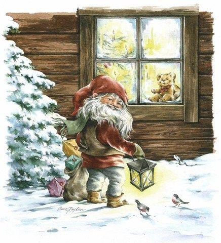 gnome at Christmas