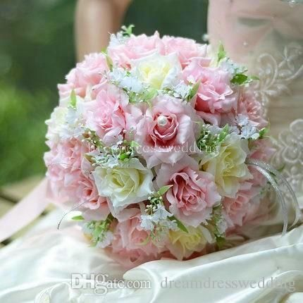 Wedding Bridal Bouque 2015 Christmas Silk Cloth Ribbon Flowers Wedding Bridesmaid Bouquets Wedding Bouquets Online with $23.37/Piece on Dreamdresswedding's Store | DHgate.com