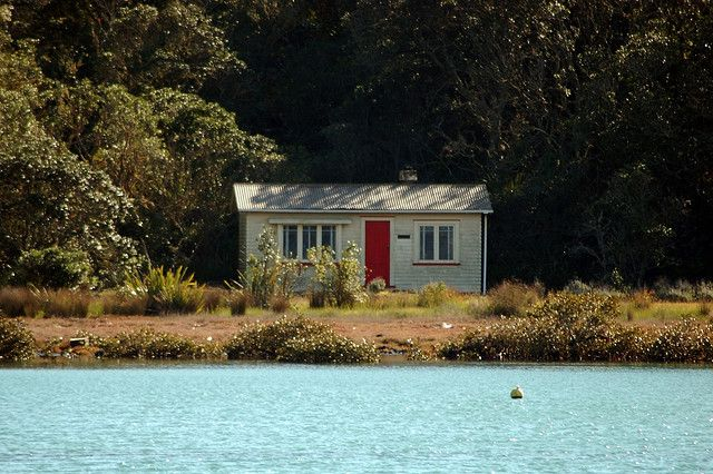 Kiwi bach - New Zealand vacation home - Rangitoto Island - I knew the lady that owned this bach.  She was a fantastic fisherwoman