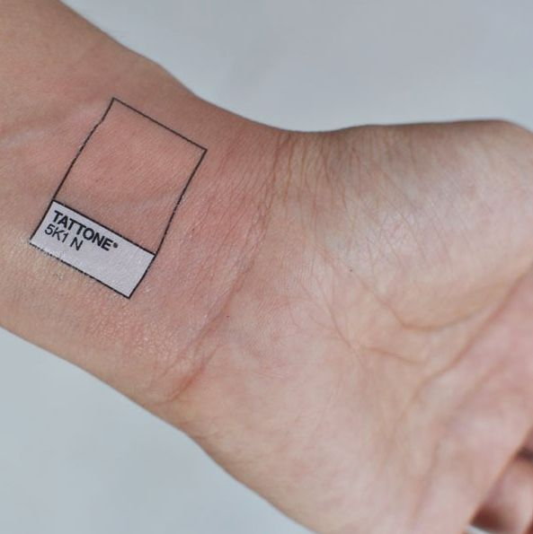 Pantone Tattoo. This is so silly lol