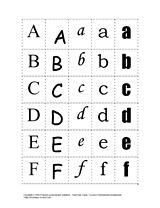Font Sort Cards and Alphabet Recognition