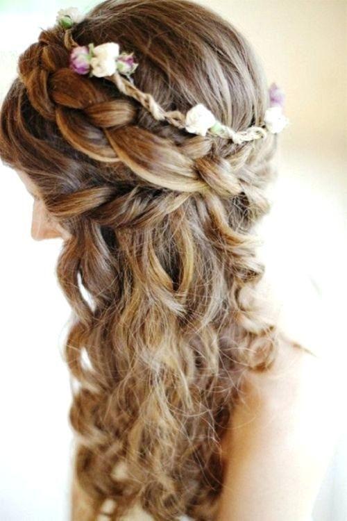 Prom Frisuren halb bis halb nach unten eine super süße lockige geflochtene halb geflochtene lockige süße Frisur prom - Frisur ...