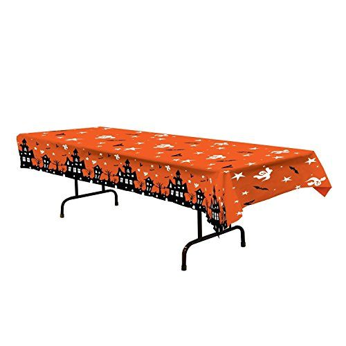 Halloween Haunted House Tablecover 54in. X 108in. Pkg/6