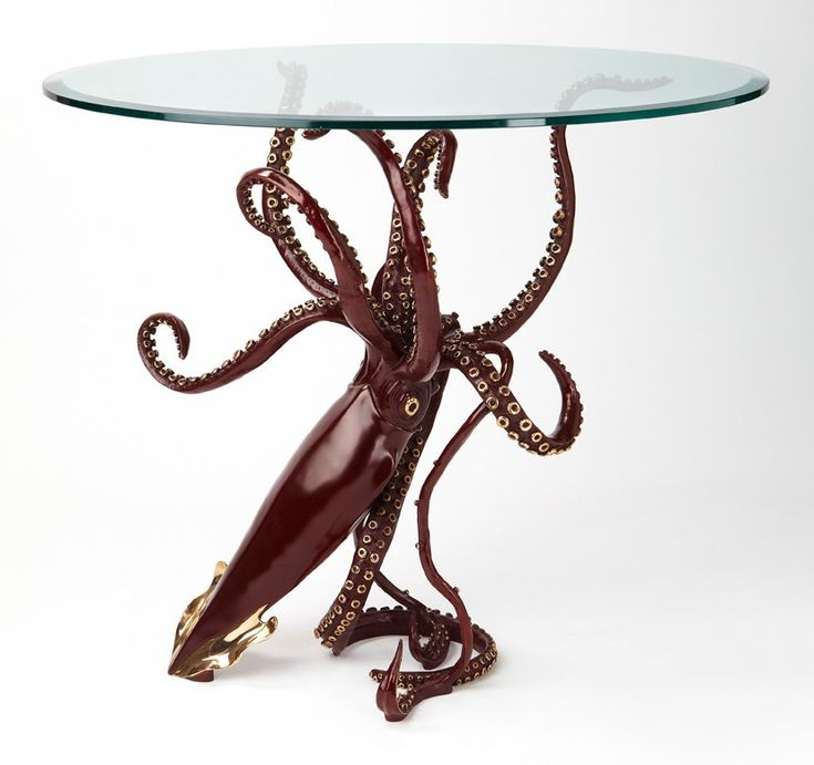 Bronze Giant Squid dining table by Kirk McGuire Sculpture