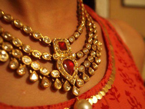Stunning kundan necklace