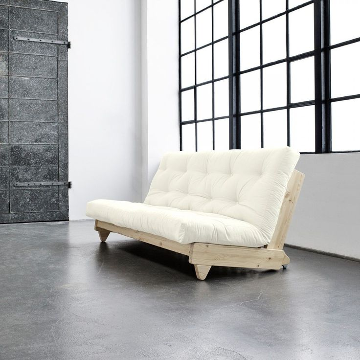 Banquette futon fresh en bois naturel 140x200 bois naturel Terre De Nuit   La Redoute