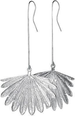 Silver Fan Tail Earrings - Boh Runga | Shop New Zealand NZ$ 329.00