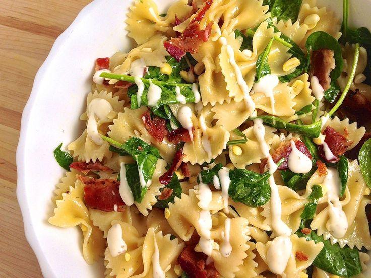 Bacon, Corn, Spinach, and Ranch Pasta Salad   - Delish.com