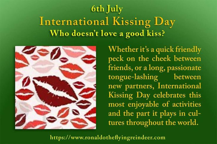#today 6th July is #InternationalKissingDay #NationalFriedChickenDay  How to Celebrate International Kissing Day Well that's simple enough isn't it? Wake up in the morning and kiss your partner good morning, then greet your friends with a quick kiss on the cheek to show them how much you appreciate them. If you're a bit more reserved, place a chaste kiss on the back of the hand of friends you hold in high regard. There's a million different ways to deliver a kiss to those you care about, and…