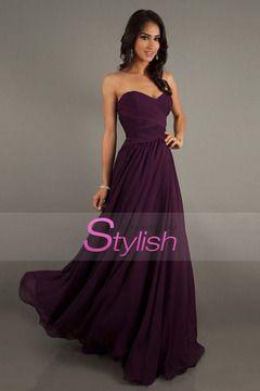 Affordable Bridesmaid Dresses/Prom Dresses A-Line Sweetheart Floor-Length Chiffon Grape $ 109.99 STP53NYCHB - StylishPromDress.com