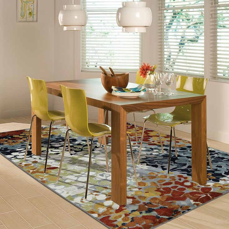 Beautify Your Home With This Stain Resistant Mohawk Radiance Abstract Floral Rug In Multi