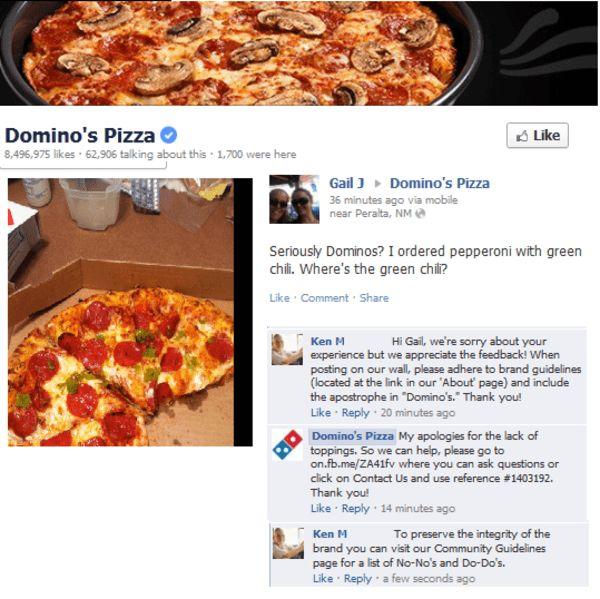 Ken M On Domino's Pizza
