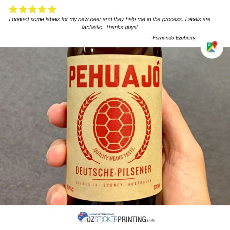 We 💙 Our Customers Your satisfaction is our inspiration in doing our very best. Thank you for choosing us. 😉 #HappyCustomer #GoogleReview #WednesdayTestimonial #Stickers #Labels #OzStickerPrinting