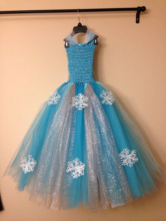 diy elsa tutu dress | Queen Elsa inspired tutu dress and matching hairclip size nb to 9years