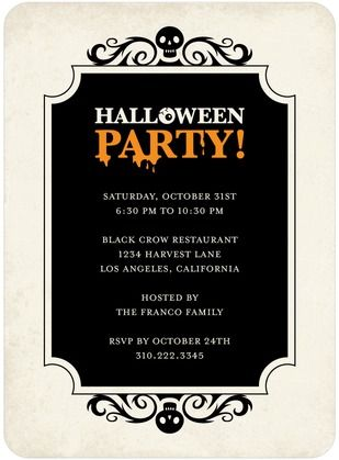 198 best Halloween Party Invitations images on Pinterest ...