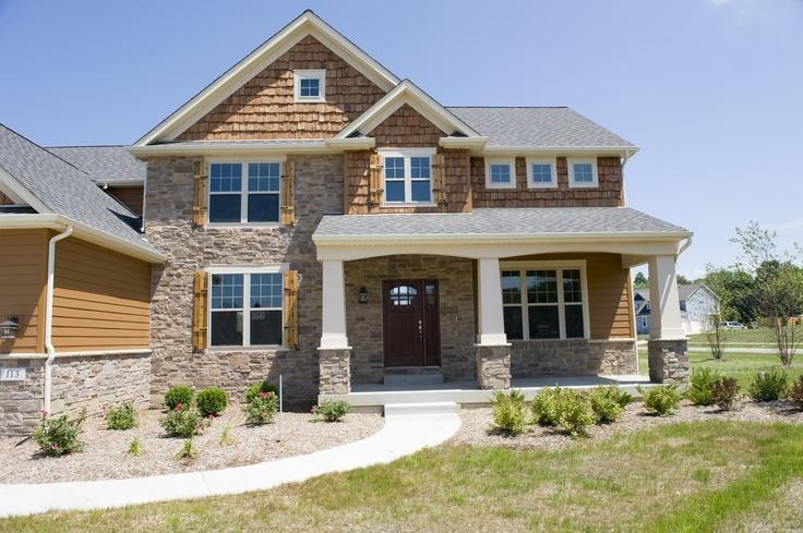 Cedar shake shingles and cedar shutters - by Steiner Homes LTD.