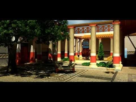 Virtual Roman House Domitia Restitution 3D - YouTube