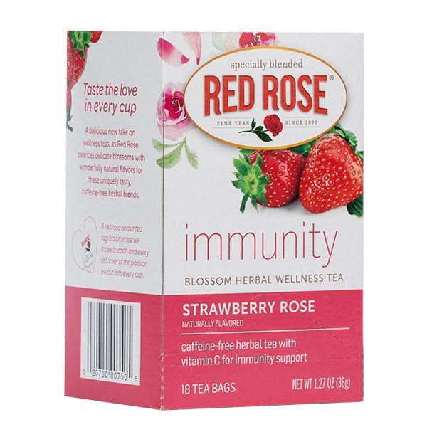 immunity Strawberry Rose - Red Rose Tea